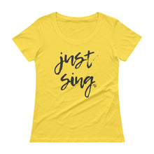 Load image into Gallery viewer, Just Sing - Stylish Scoopneck T-Shirt