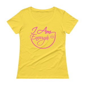 I Am Enough - Ladies' Scoopneck T-Shirt