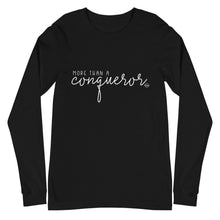 Load image into Gallery viewer, More than a Conqueror Long Sleeve Tee