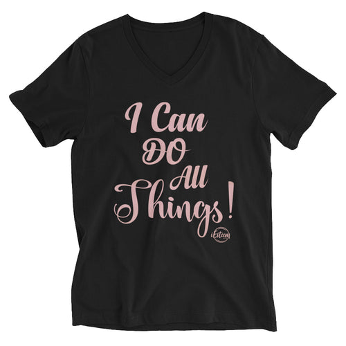 I Can Do All Things - Short Sleeve V-Neck T-Shirt