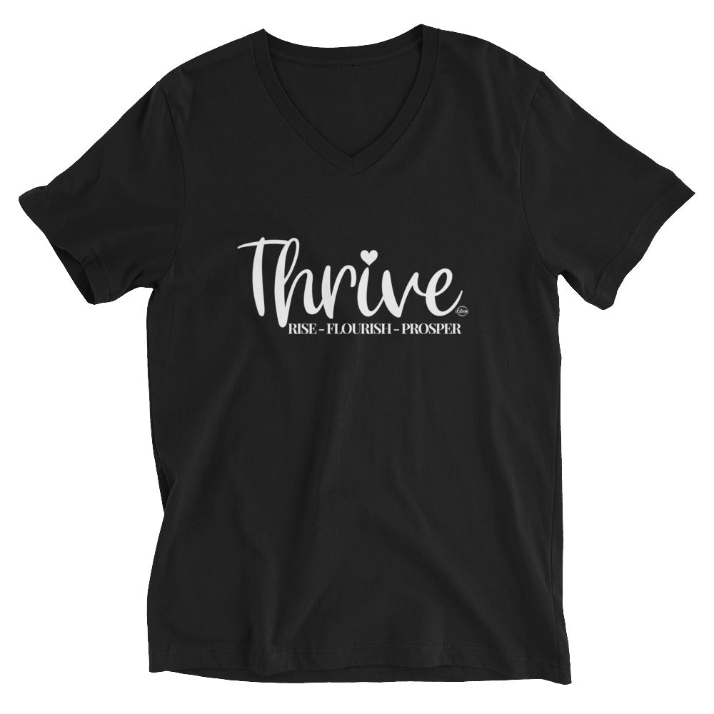 Thrive - Short Sleeve V-Neck T-Shirt