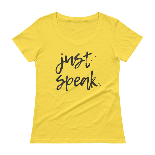 Just Speak - Stylish Scoopneck T-Shirt
