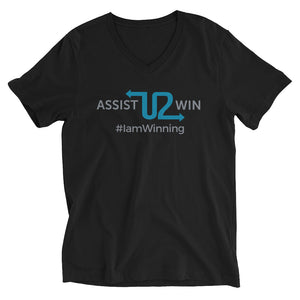 Assist U2 Win  - Unisex Short Sleeve V-Neck T-Shirt