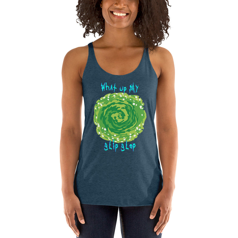 What Up My Glip Glop Racerback Tank