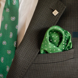 The Old Fashioned in Green - pocket squares, PocketMan - the best pocket squares you'll ever wear