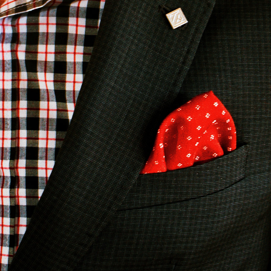 The Old Fashioned in Red - pocket squares, PocketMan - the best pocket squares you'll ever wear