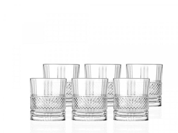 Glas whiskey 6stk 34cl Brillante