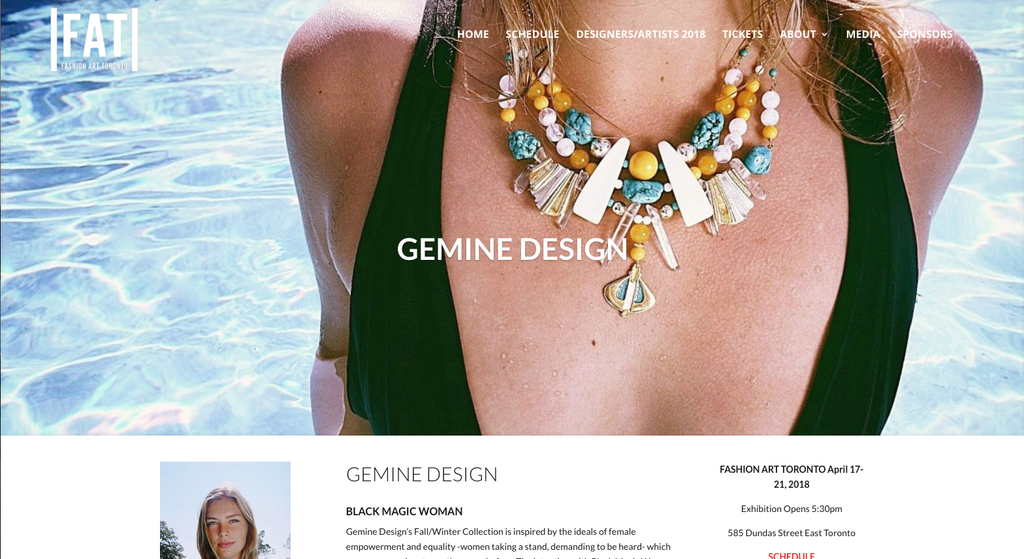 Read Fashion Art Toronto's Profile On Gemine Design.