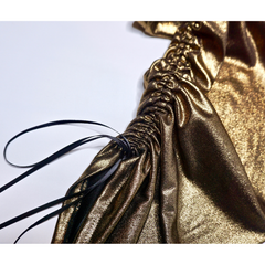 Shimmery Gold Drawstring Pants