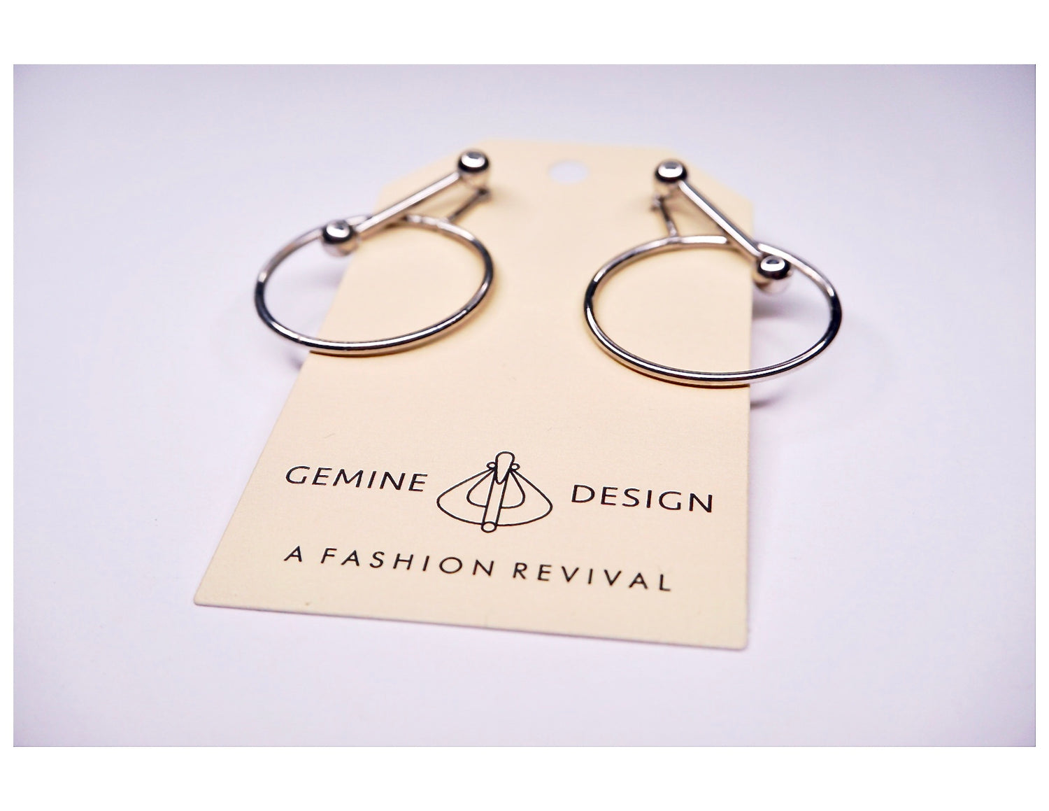 Silver Circle Barrel Earrings