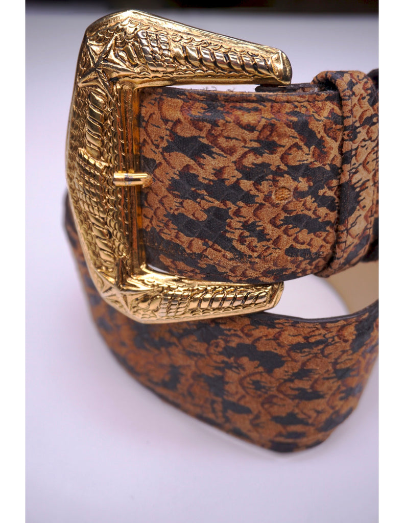 Vintage Snake Pattern Nautical Style Belt (Danier Label)