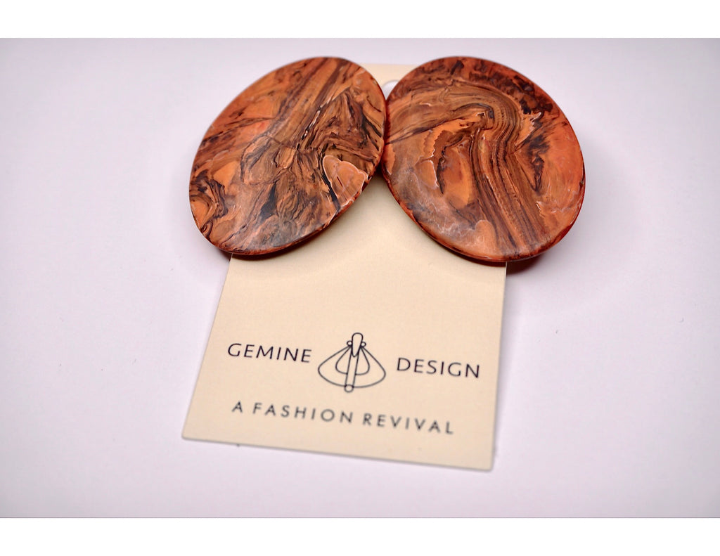 TIGER TAIL Wood Earrings