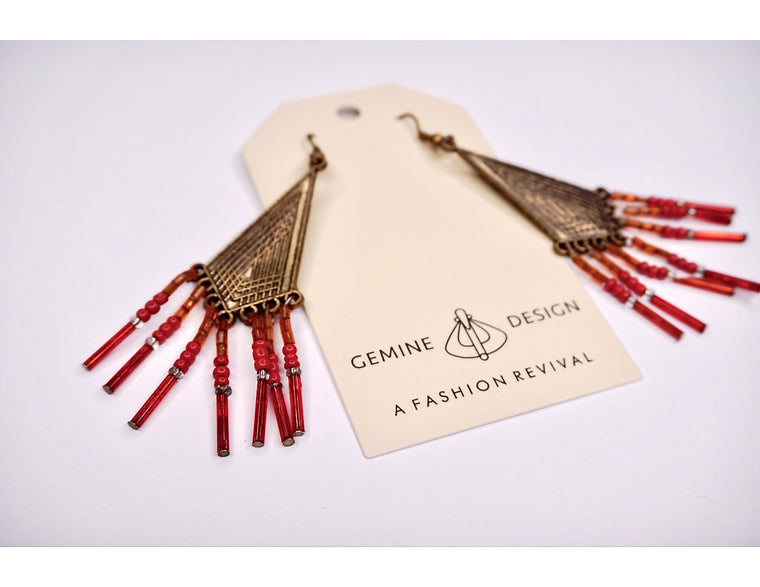 RED Navajo Style Earring