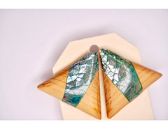 TRIANGLE SHELL Wood Earrings