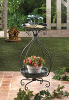 BIRD FEEDER AND PLANT STAND, , The Decor Source, The Decor Source