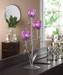 FUCHSIA BLOOMS CANDLEHOLDER, , The Decor Source, The Decor Source