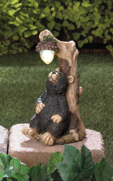 BLACK BEAR SOLAR STATUE, , The Decor Source, The Decor Source