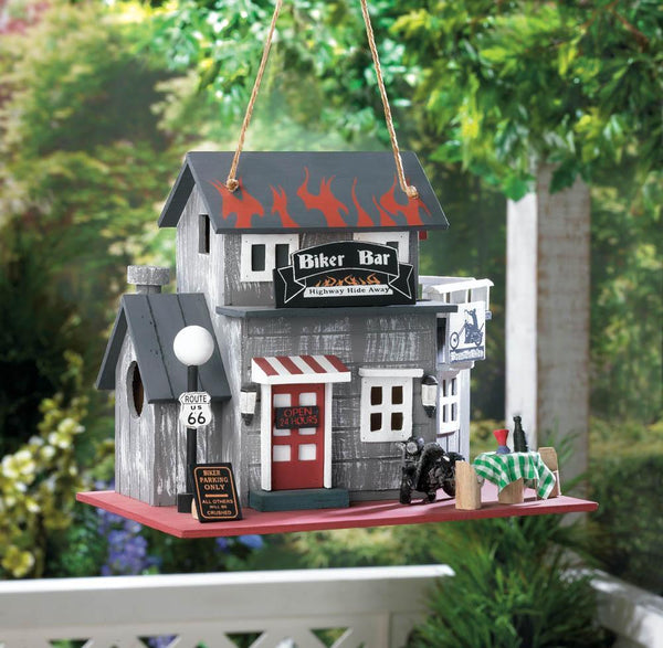 BIKER BAR BIRDHOUSE, , The Decor Source, The Decor Source