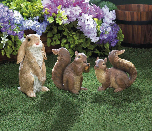 CURIOUS SQUIRREL GARDEN STATUE, , The Decor Source, The Decor Source