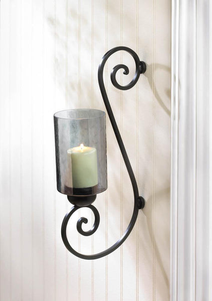 SMOKED GLASS WALL SCONCE, , The Decor Source, The Decor Source