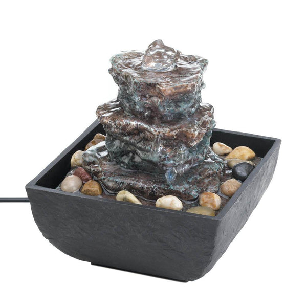 ROCK TOWER TABLETOP FOUNTAIN, , The Decor Source, The Decor Source