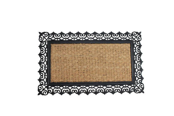 SCROLL DESIGN BORDER WELCOME MAT, , The Decor Source, The Decor Source