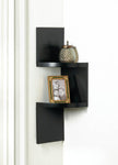 ZIG ZAG 2-TIER CORNER WALL SHELF - BLACK, , The Decor Source, The Decor Source