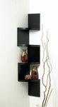 ZIG ZAG 4-TIER BLACK CORNER SHELF, , The Decor Source, The Decor Source