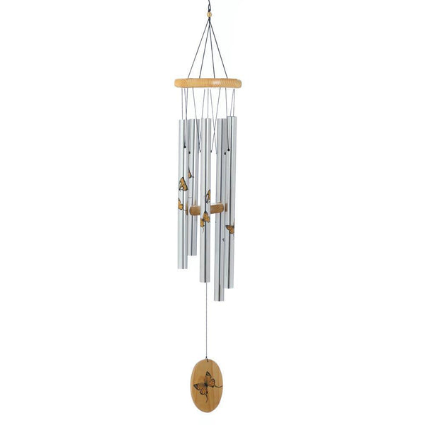 PRINTED BUTTERFLY WIND CHIMES, , The Decor Source, The Decor Source