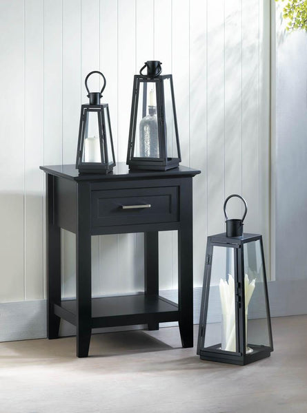 BLACK CROSSTOWN SIDE TABLE, , The Decor Source, The Decor Source
