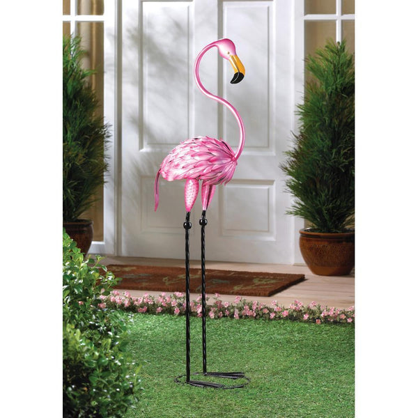 TROPICAL TANGO FLAMINGO STATUE, , The Decor Source, The Decor Source