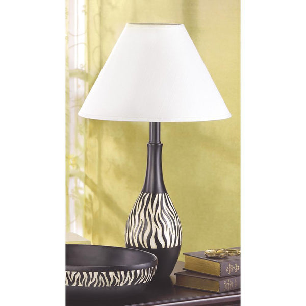 ZEBRA STRIPE LAMP, , The Decor Source, The Decor Source