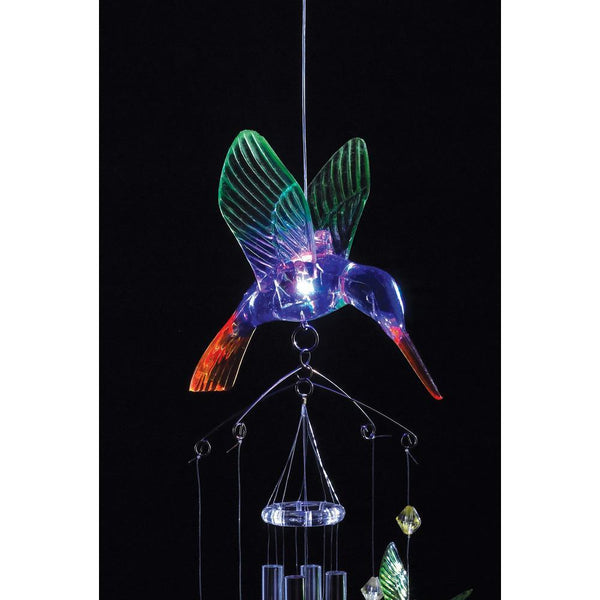 LIGHT-UP HUMMINGBIRD WIND CHIMES, , The Decor Source, The Decor Source