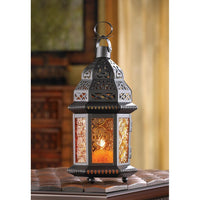 AMBER MOROCCAN CANDLE LANTERN, , The Decor Source, The Decor Source