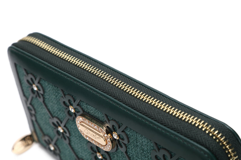 Wildflower Handmade Wristlet Wallet with Multiple Card Pockets - Brangio Italy Co.