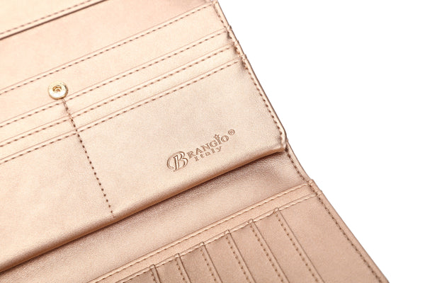 Diamond Goddess Tri-Fold Handmade Wallet with Multiple Card Pockets - Brangio Italy Collections