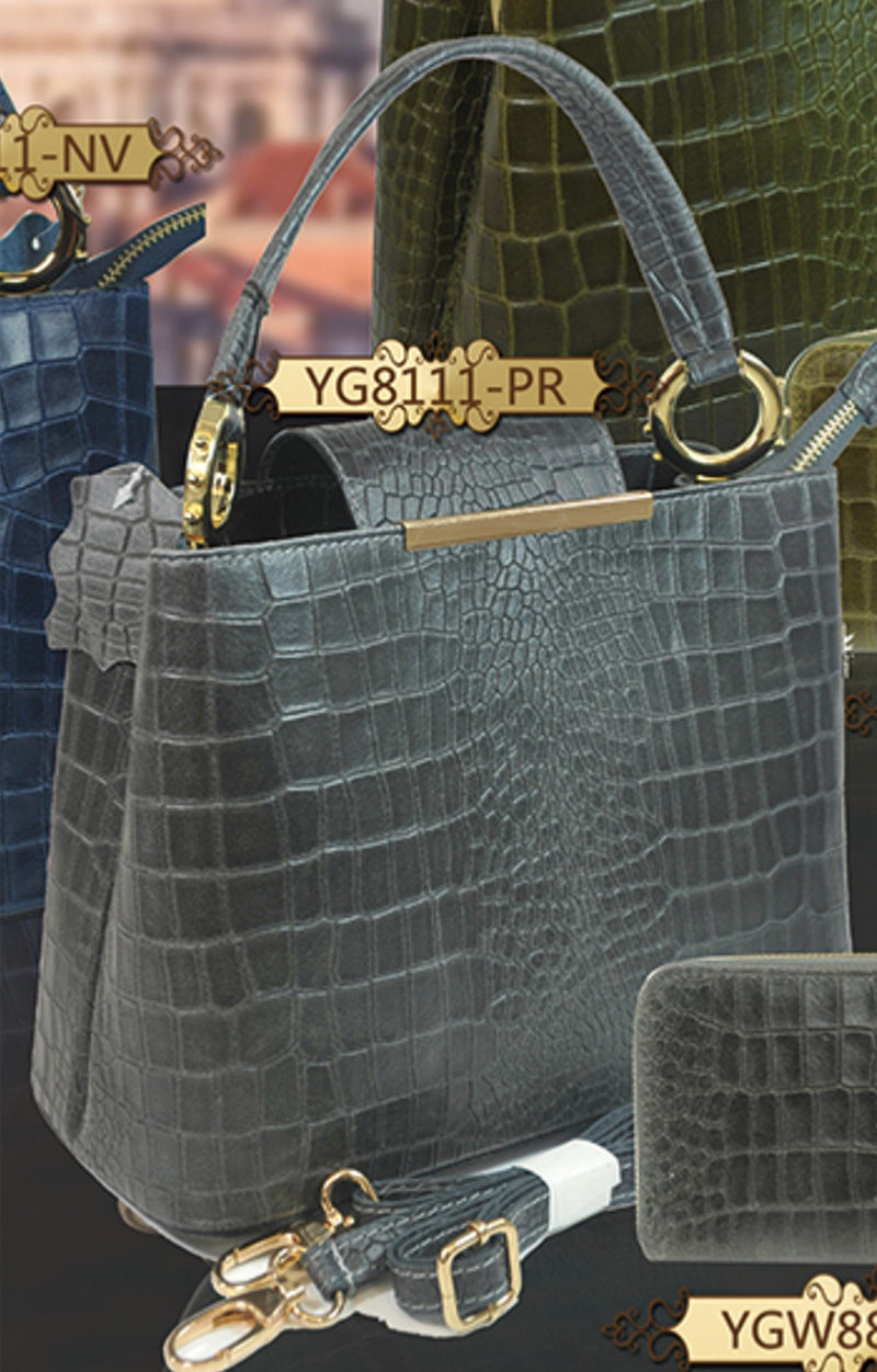 Misty U.S.A. 100% Genuine Cowhide Leather Handbags Made In Italy [YG8111-PR] - Brangio Italy Collections