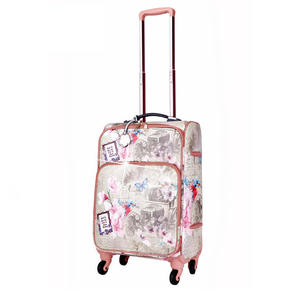 Vintage Darling Classic Travel Luggage for Women With Spinners - Brangio Italy Co.