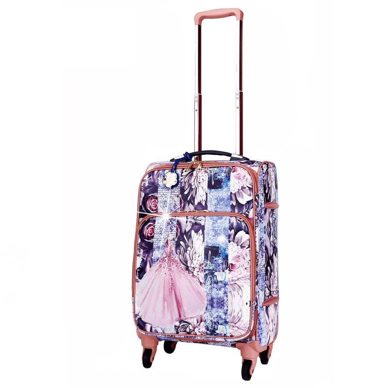 Blossomz Carry on Luggage With Spinner Wheels - Brangio Italy Collections
