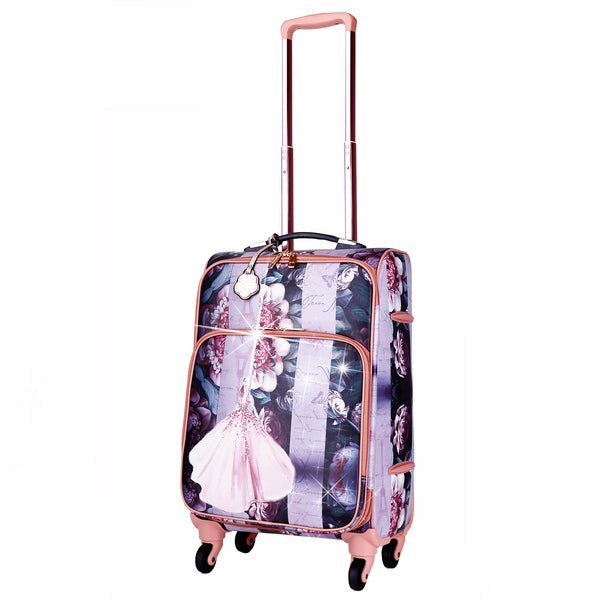 Blossomz Carry on Luggage With Spinner Wheels - Brangio Italy Co.