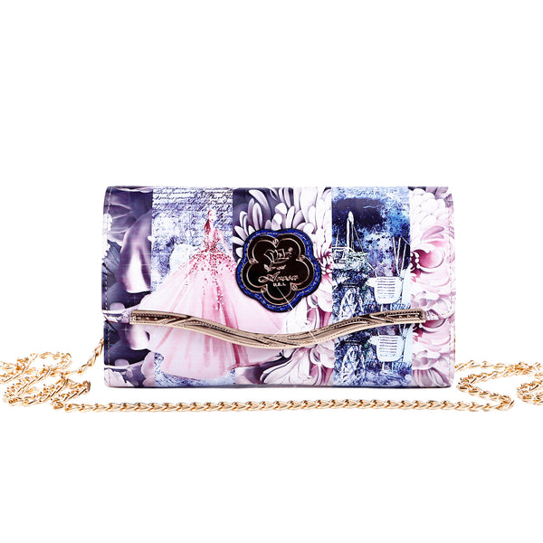 Blossomz Clutch iPhone Crossbody Multiple Pockets - Brangio Italy Collections