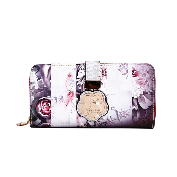 Blossomz Graphic Design Fashion Wallet for Women - Brangio Italy Co.