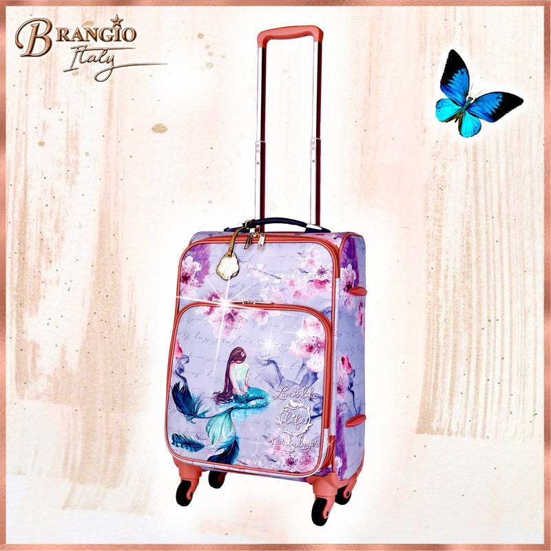 Princess Mera Carry on Luggage With Spinner Wheels - Brangio Italy Collections