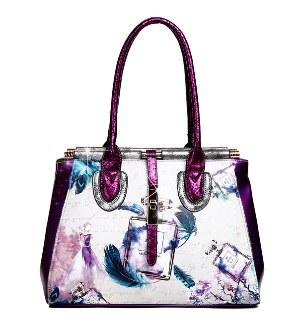 Arosa Fragrance Vintage Hollywood Retro Graphic Fashion Handbag - Brangio Italy Collections