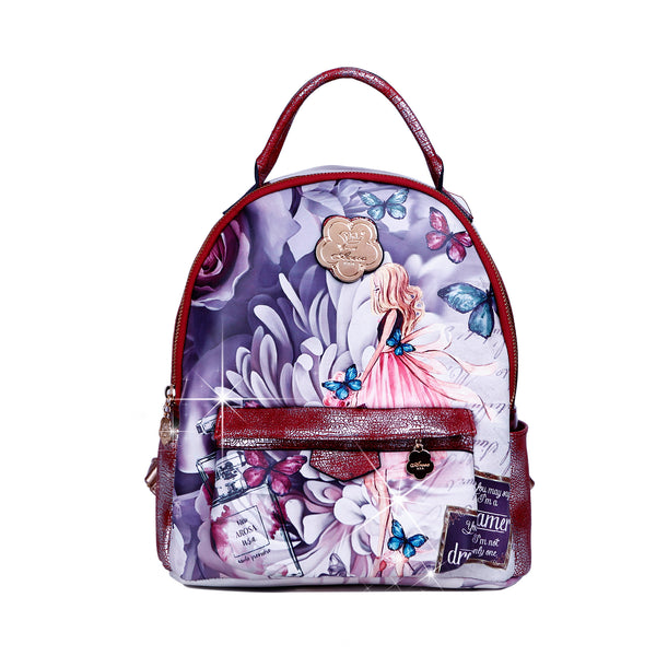 Dreamerz Crystal Laced Scratch & Stain Resistant Womens Backpack - Brangio Italy Co.