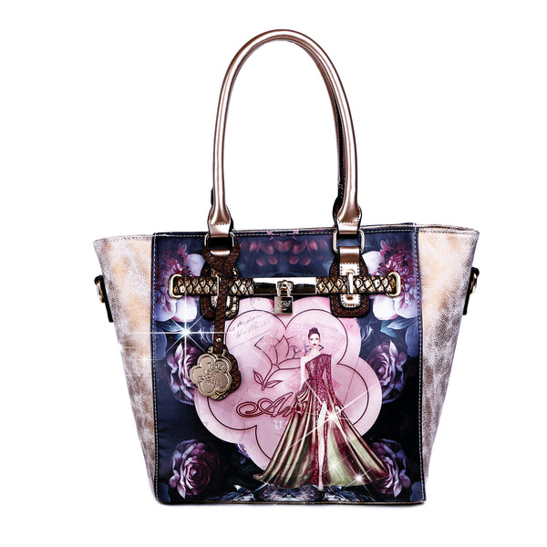 Queen Arosa Designer Luxury Tote Bag for Women - Brangio Italy Co.