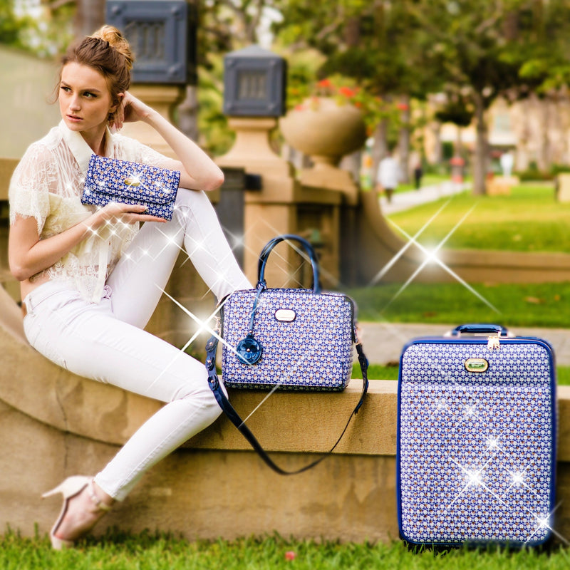 Galaxy Stars Clover Luxury Signature Travel Luggage - Brangio Italy Co.
