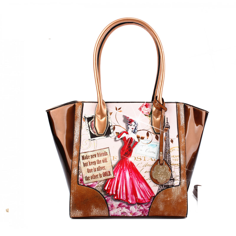 Lady Luck 2.0 Vintage Scratch & Stain Resistant Top-Handle Bag - Brangio Italy Co.