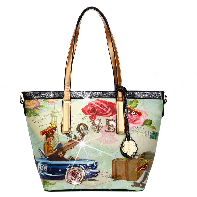 Trusti Leather Tote Bag for Women Handbag with Multiple Pockets - Brangio Italy Collections