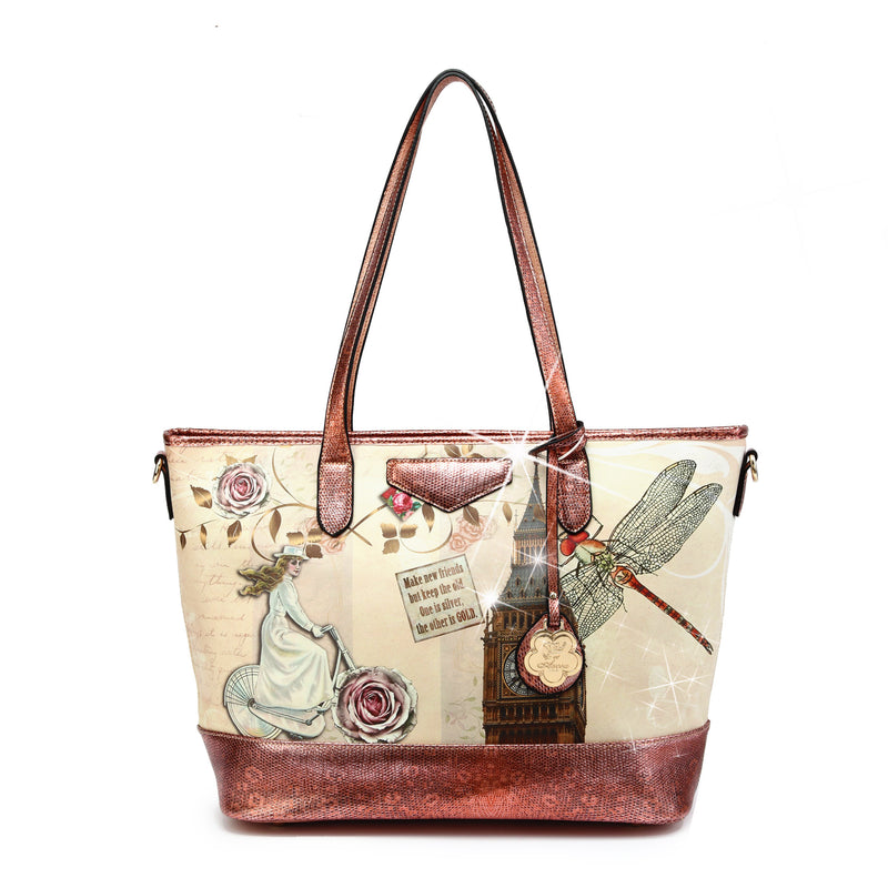 Lady Dream Tote Scratch & Stain Resistant Top-Handle Bag - Brangio Italy Co.